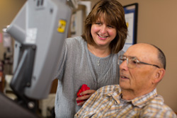 Cardiac Rehabilitation Therapist working with Patient