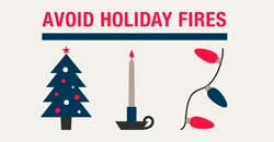 Avoid holiday fires
